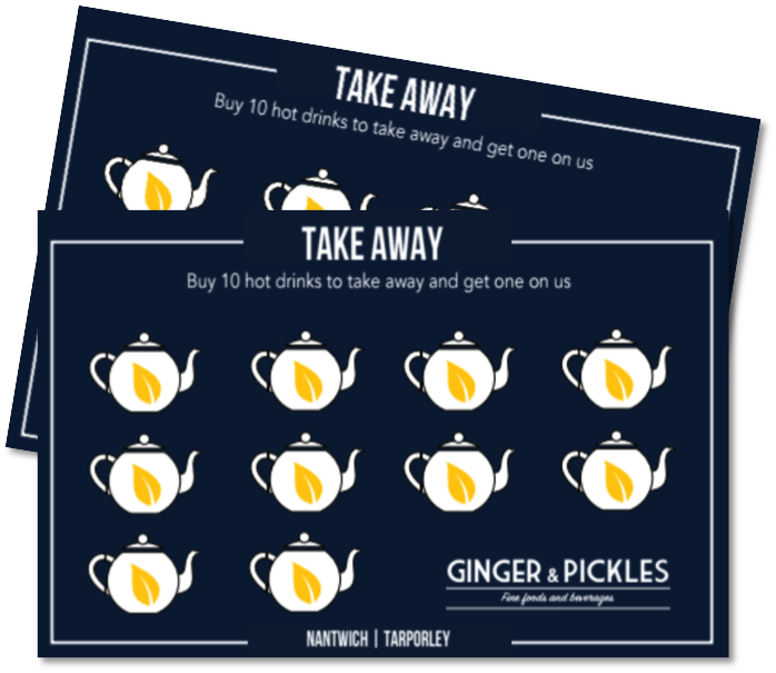Don't forget your loyalty card - Buy 10 hot drinks to go and get one on G&P.