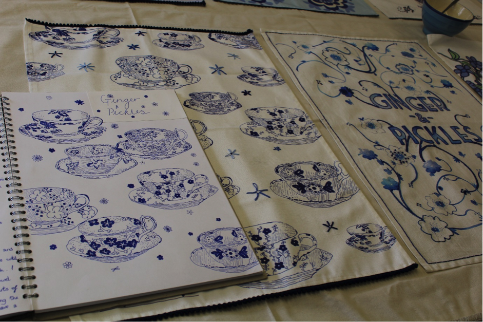Tea towel designs