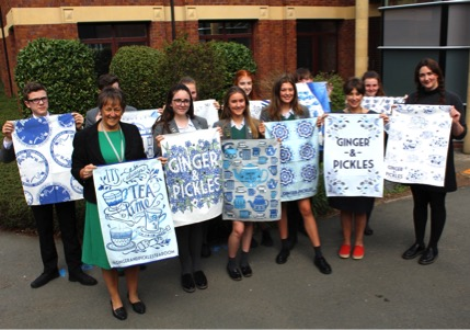 tea towel designs at The Grange School