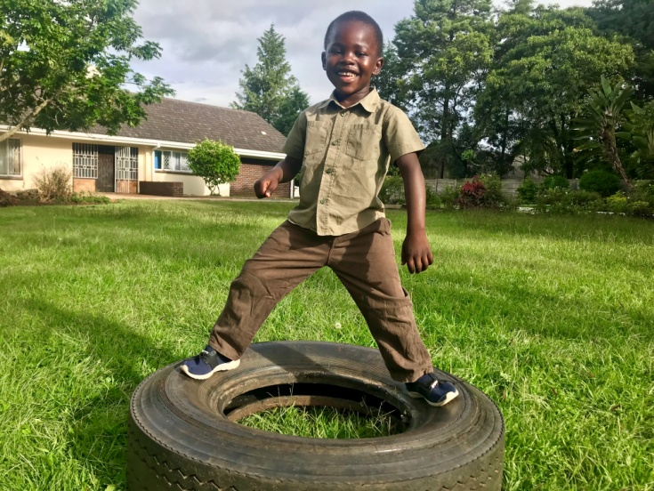 6 Feb 2019 update - Panashe is still in preschool at Gabas, a stone's throw from Runyararo Home. He is a very jovial child.