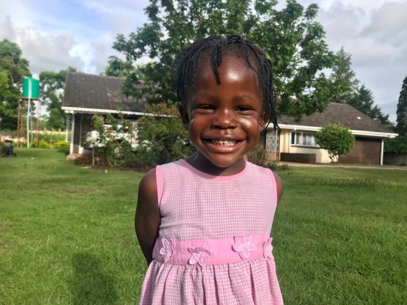 6 Feb 2019 update - Kim started preschool this year. She is at Gabas with her brothers Panashe, Kudakwashe and Anopaishe. She has made remarkable milestones.