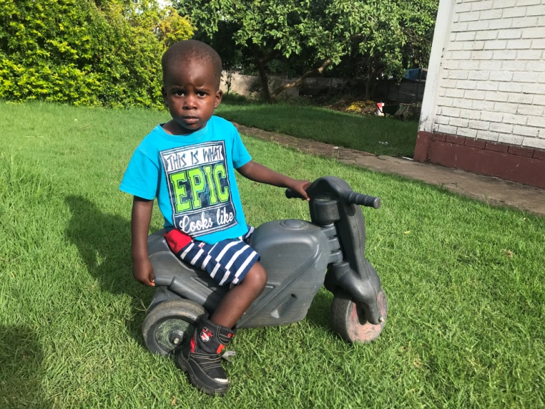 6 Feb 2019 update - Anopaishe has started preschool this year. We are thankful to God for his health. He seems to be growing out of conditions which plagued him in early childhood.