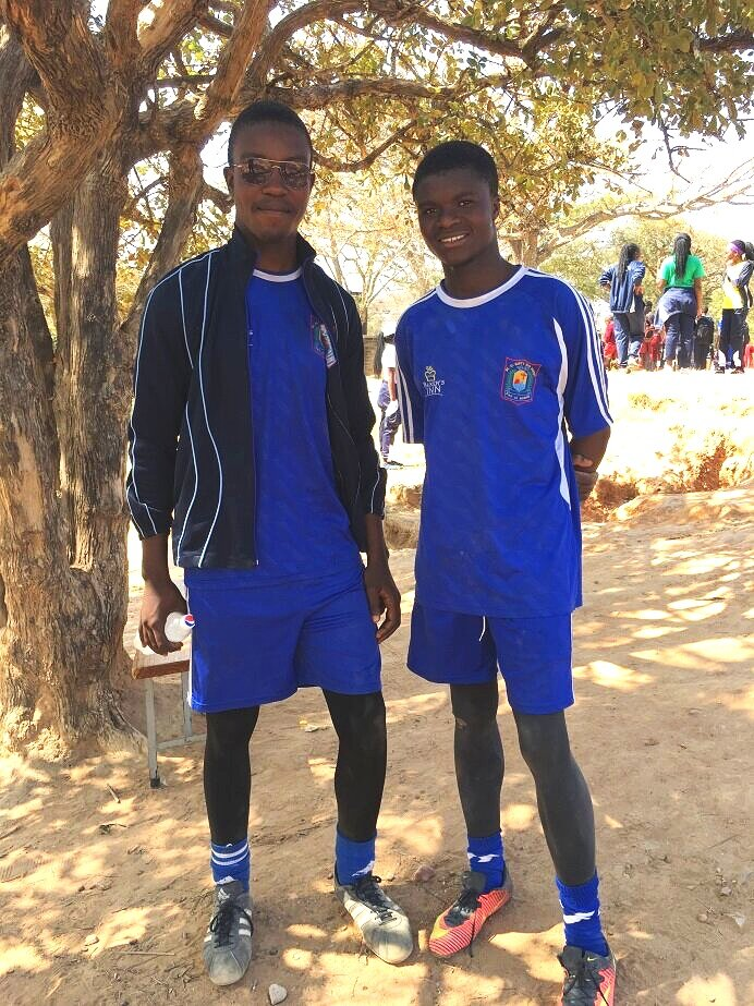 Sports Day at Mt St Mary's (Tonnex left and Chris right)