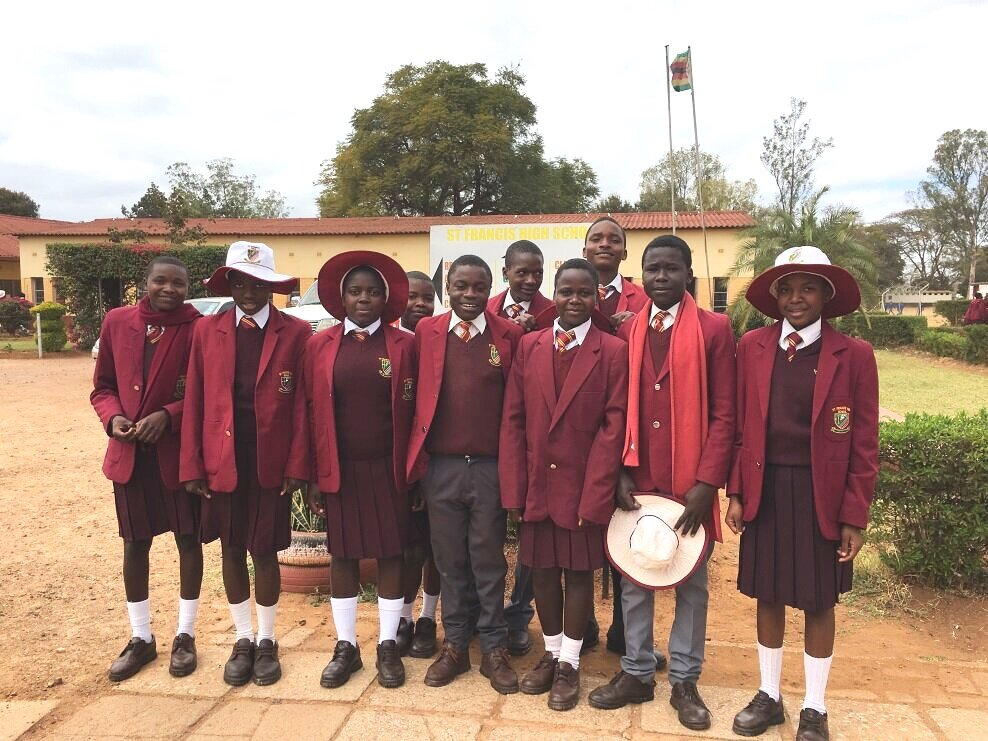 Eight children from the Donhodzo Project are currently being supported at St Francis High School in Chegutu. The Menlo Church team monitors their progress and visits them each year.