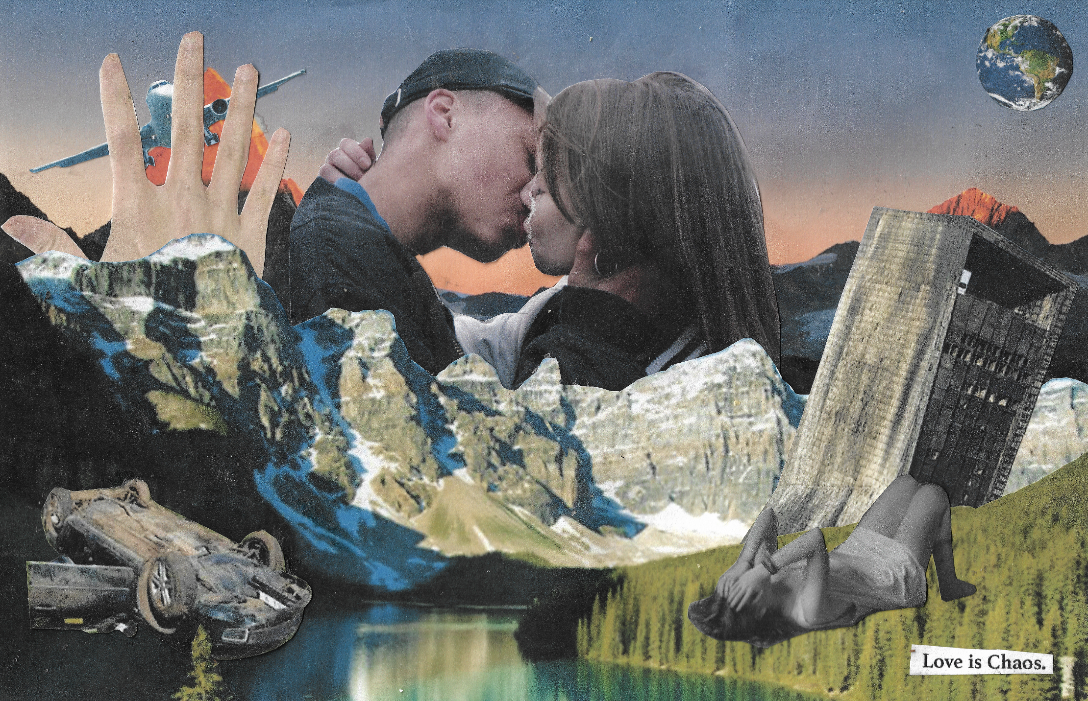 LOVE iS CHAOS - Collage By Shaquille-Aaron Keith for LOVE iS CHAOS (2018) project by Thomas Abibu, Main couple shot by Liv Jank. (2017)