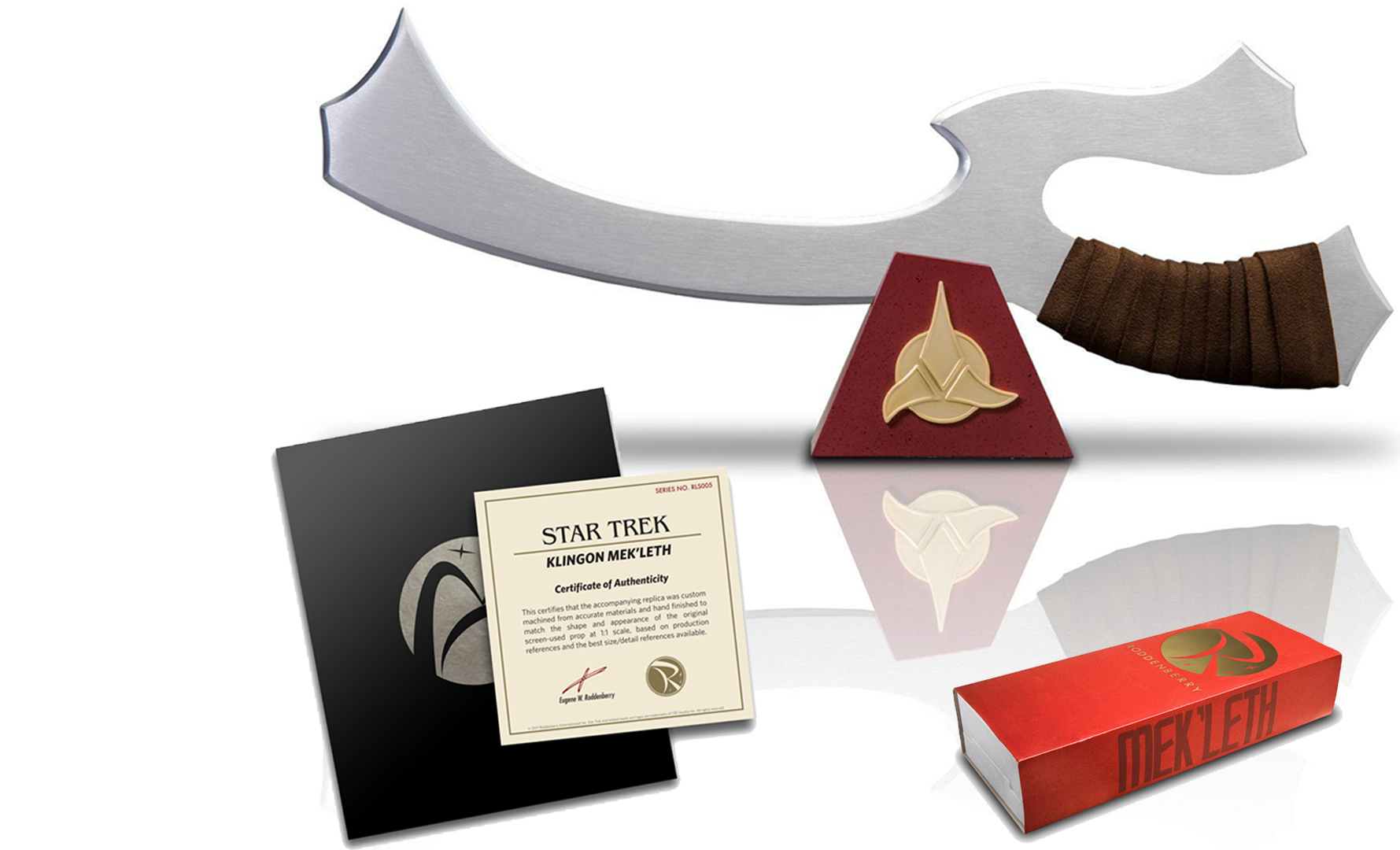 KLINGON MEK'LETH Autographed by MICHAEL DORN - Available from Roddenberry Entertainment Retail Value: $300