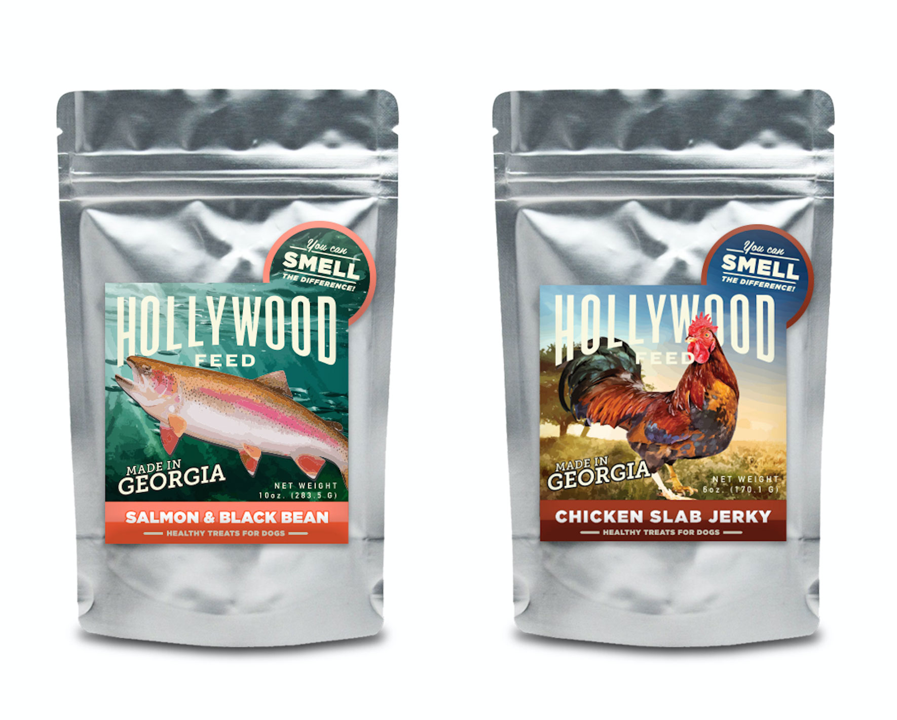 Label designs for Hollywood Feed dog treats