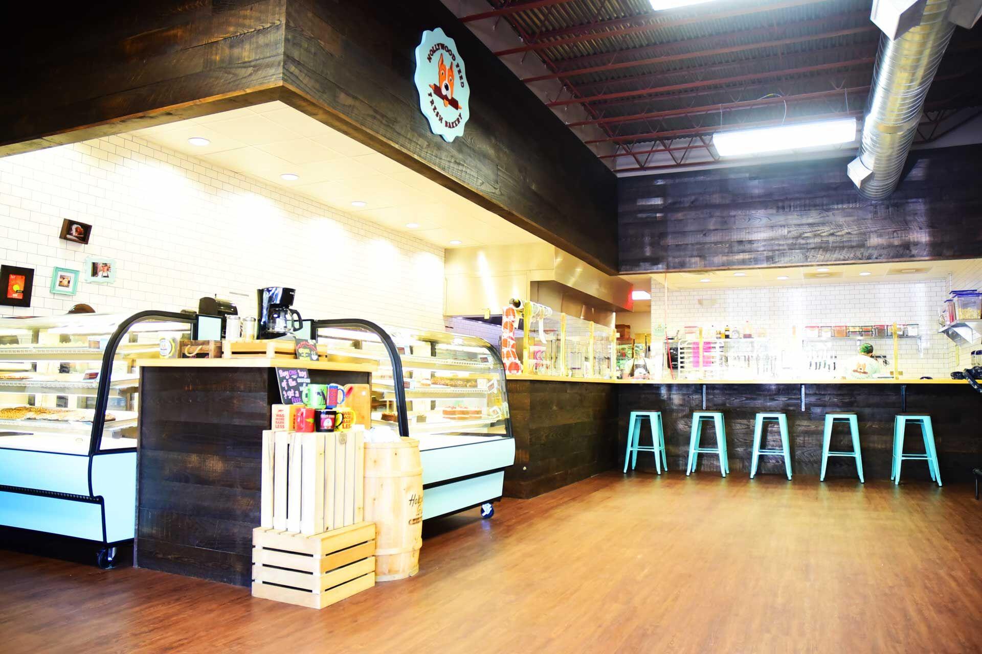Interior design for dog biscuit bakery in Memphis, TN