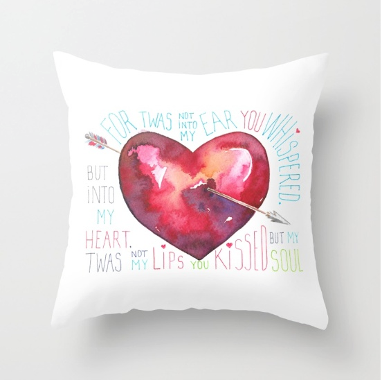 Arrow Through My Heart / Throw Pillow / $20