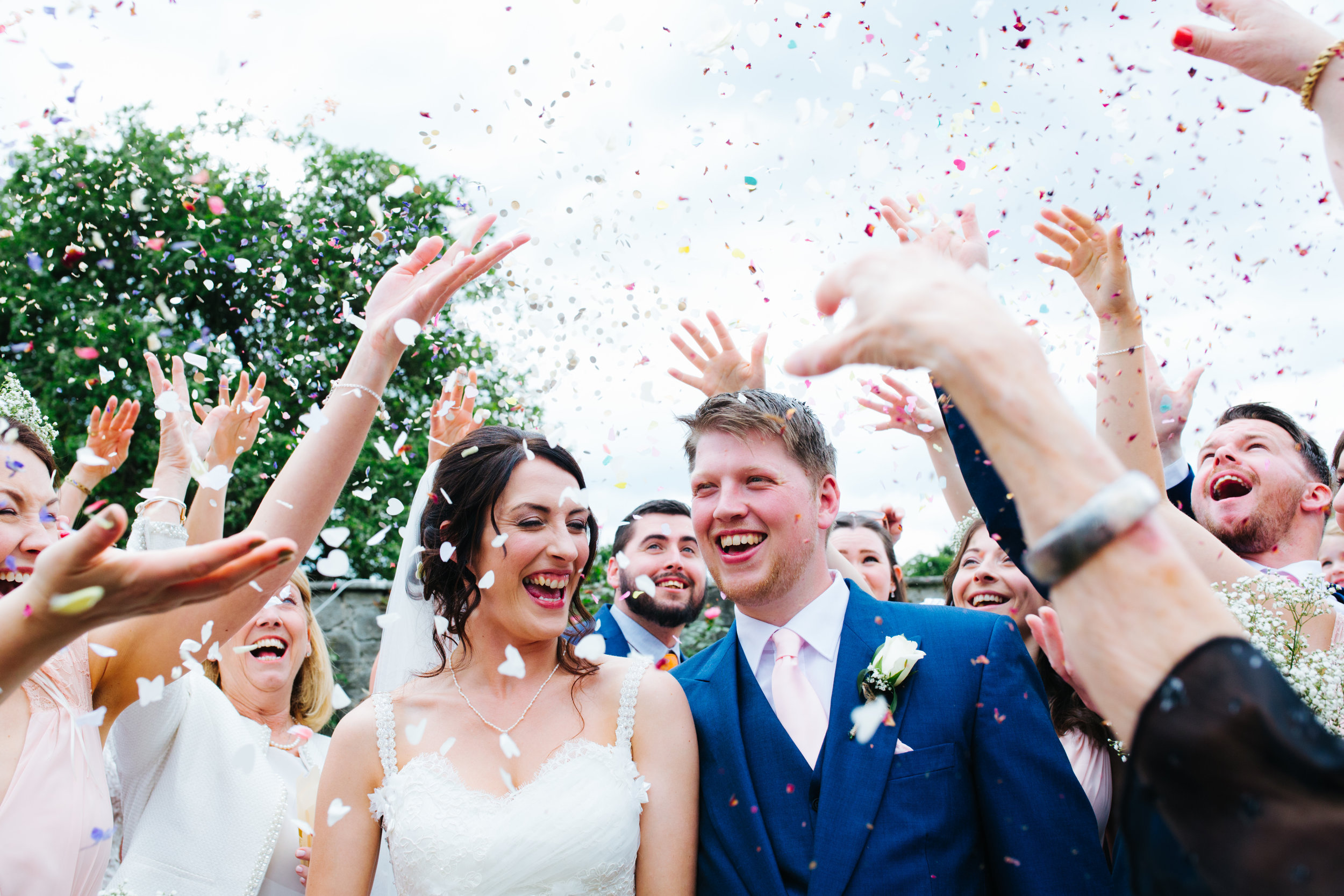 Confetti Smiles. Pentre Mawr Wales Wedding Photography.
