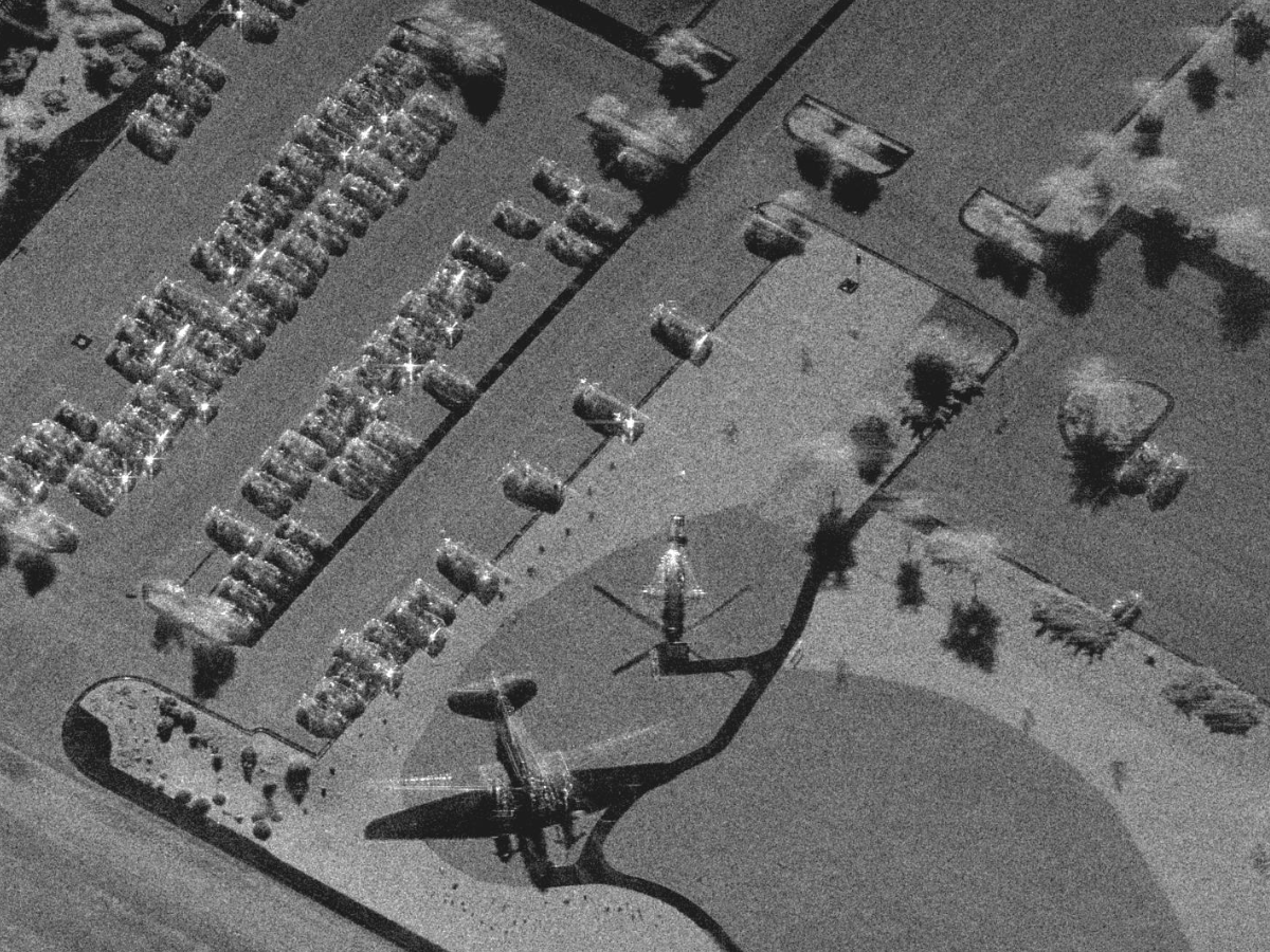 High-resolution, Ka-band SAR image courtesy Sandia National Laboratories, Airborne ISR