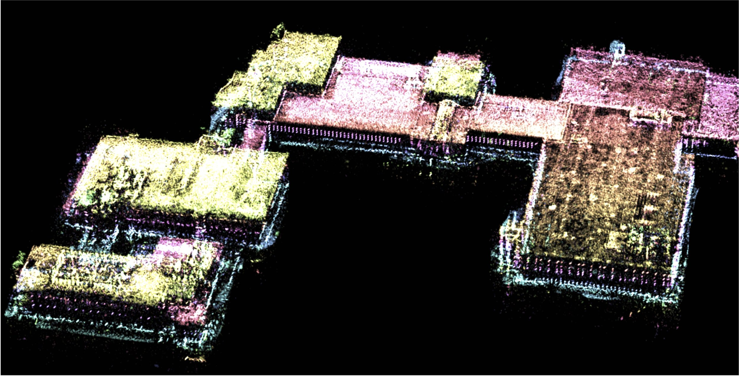 3D Point Cloud generated from Air Force Research Lab Gotcha SAR data by Neva Ridge   PA Approval #:[88ABW-2017-0844]