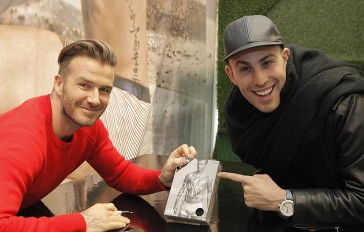 Micah Jesse and David Beckham