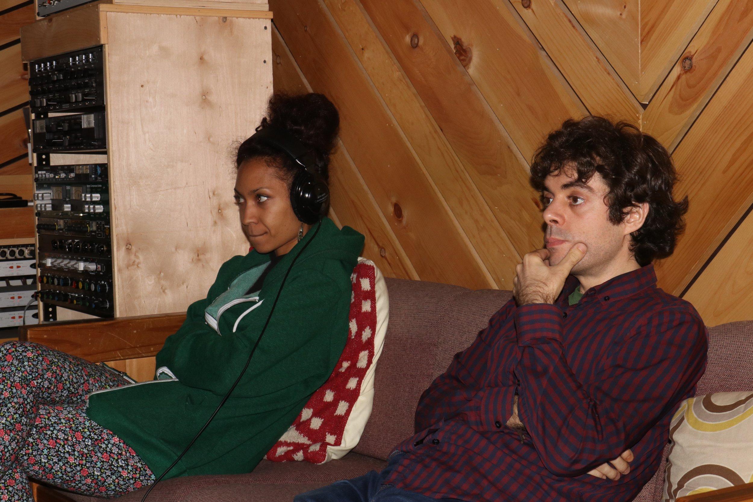 Lucia and Yago Vazquez listening...