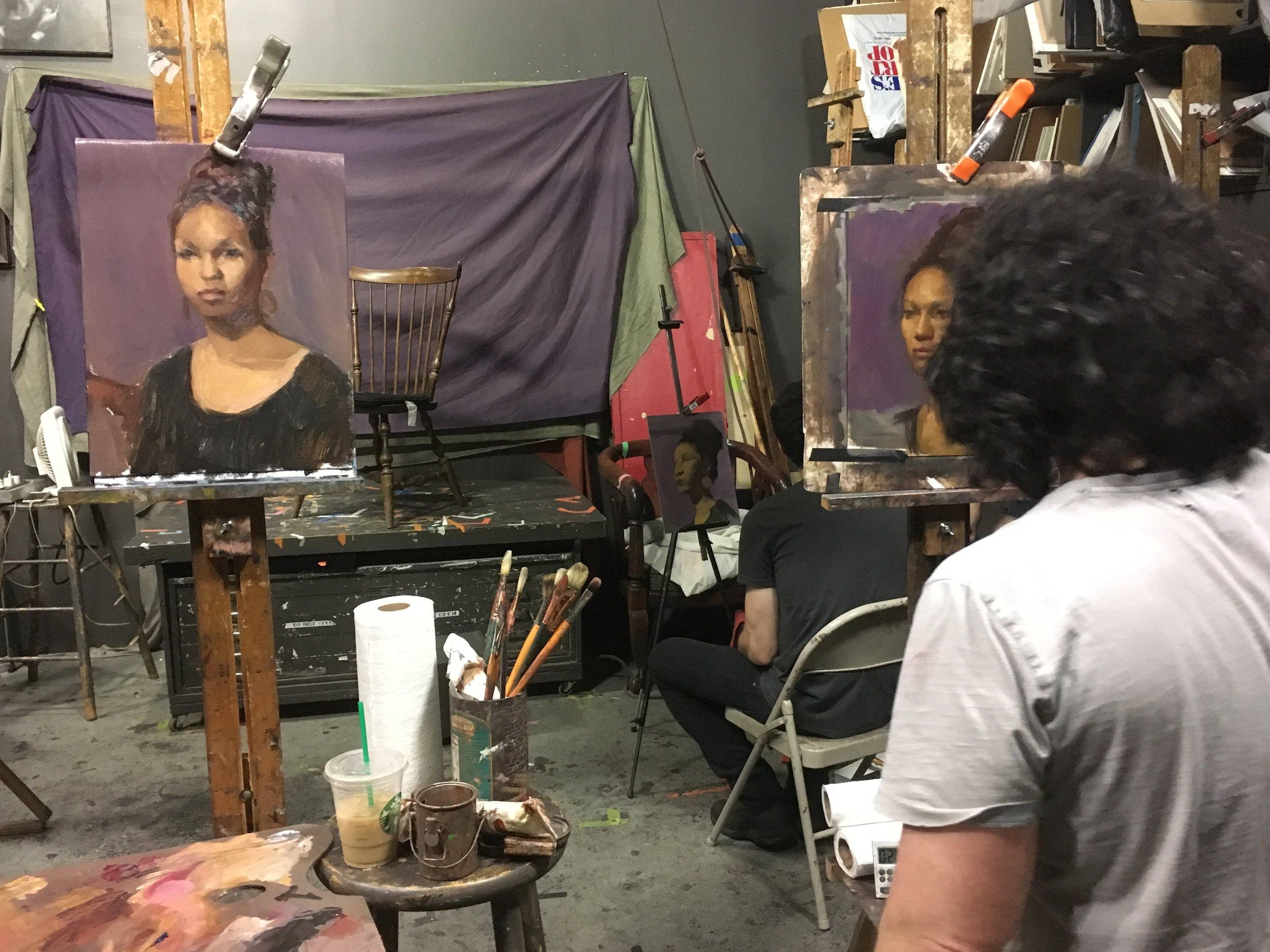 Art model for West Chelsea Artists Open Studios