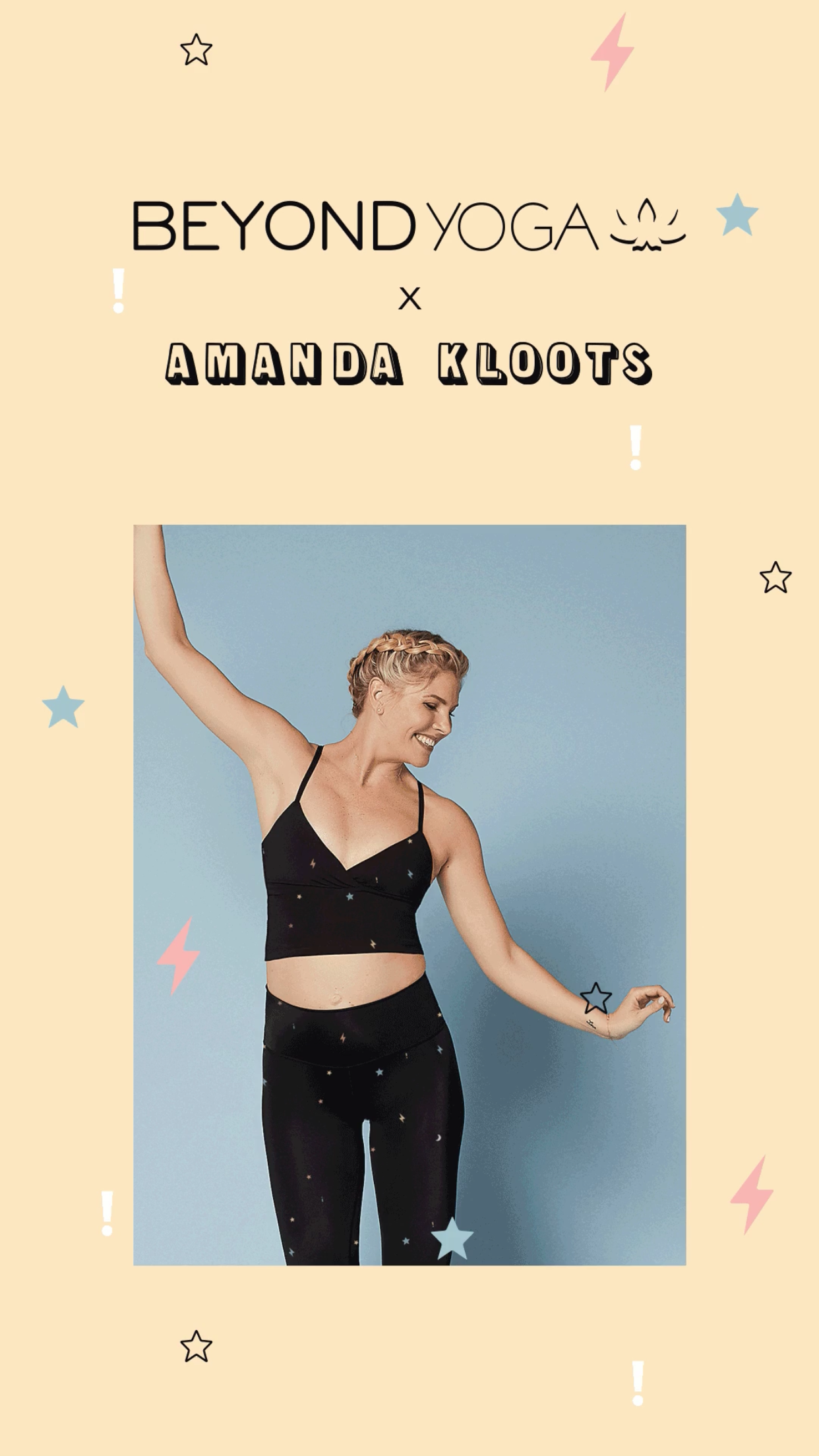 - IT'S HERE!!BEYOND YOGA x AMANDA KLOOTSShop the collection NOW. This collaboration with Beyond Yoga is made for women who want to jump right in and defy the limits.Check out everything from my favorite one piece, to the crop top, bra and leggings!Tag me in your BY x AK