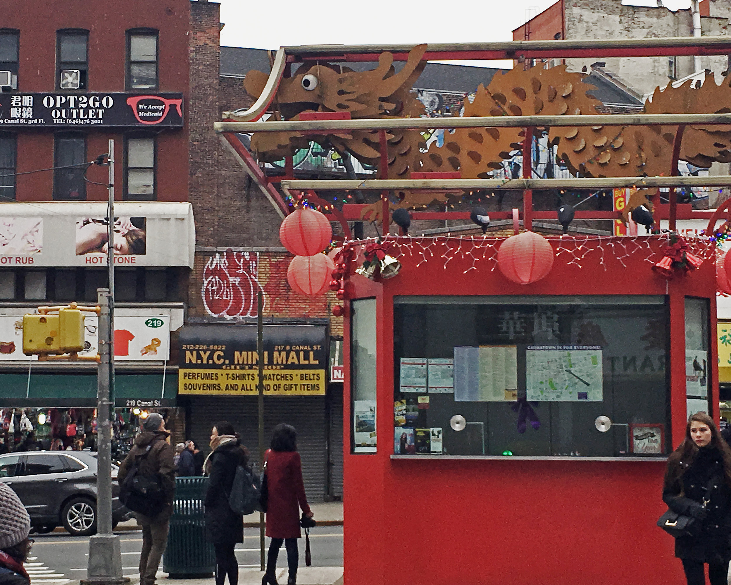 Existing Chinatown Information Kiosk