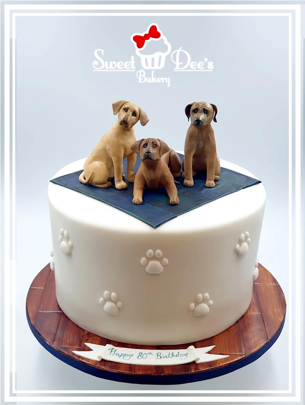 Rhodesian Ridgeback Birthday Cake