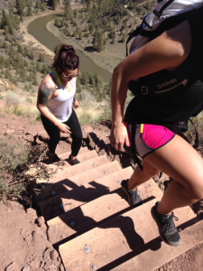 Hiking up Misery-Ridge Trail at Smith Rock State Park