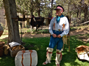 living history presenter trapper Memorial Day Weekend Smith Rock State Park