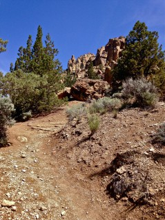 Burma Road Trail at Smith Rock State Park steep scree trail running warning