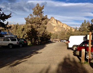 parking at The Bivy at Smith Rock State Park