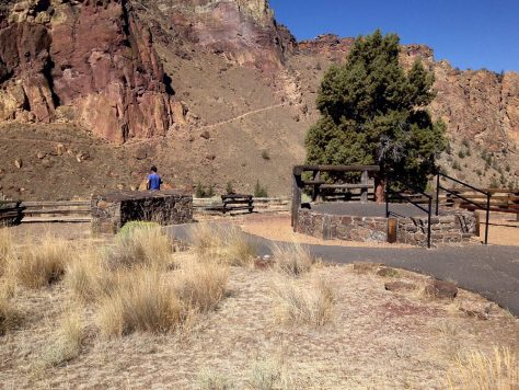 Smith Rock State Park Fire memorial and amphitheater