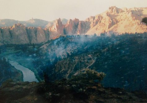 The Smith Rock Fire the day after
