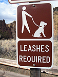 leashes required for all pets at Smith Rock State Park