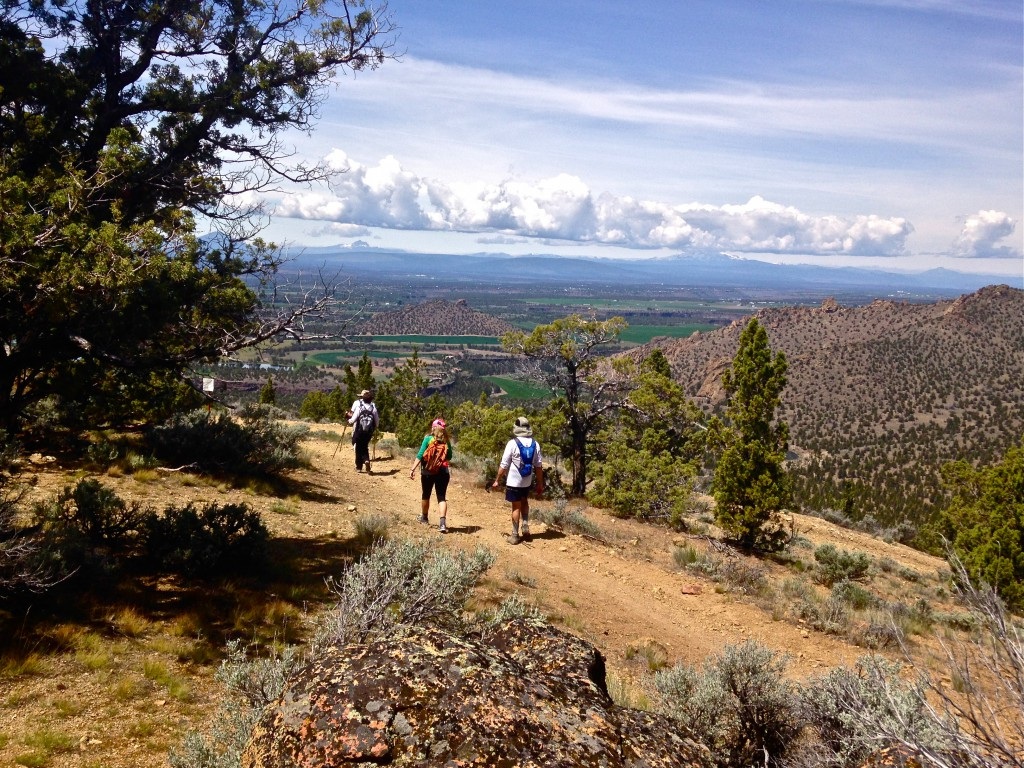 hiking on the  Summit Trail  at Smith Rock State Park