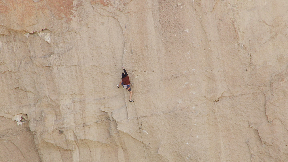 climber on Picnic Lunch Wall at Smith Rock State Park