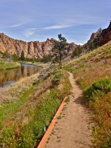 Homestead Trail at Smith Rock State Park river portion