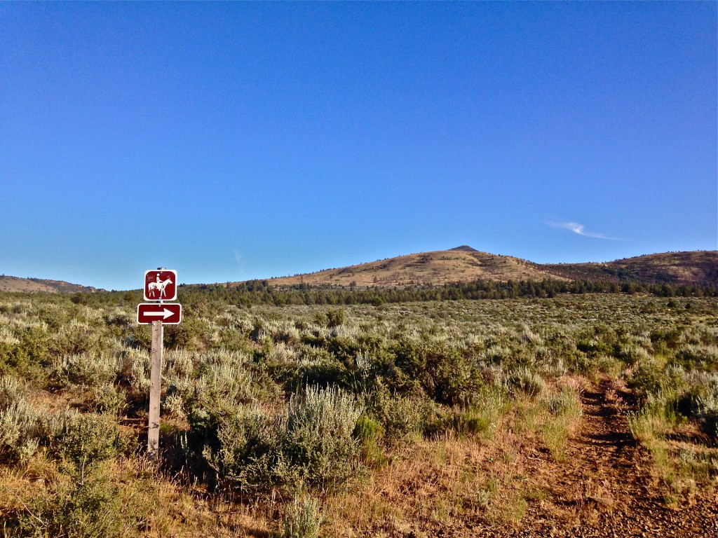 horse trail sign on BLM land
