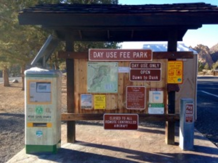 Turnaround Fee Station at Smith Rock State Park