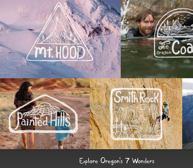 "Recent Travel Oregon ""7 Wonders"" campaign"