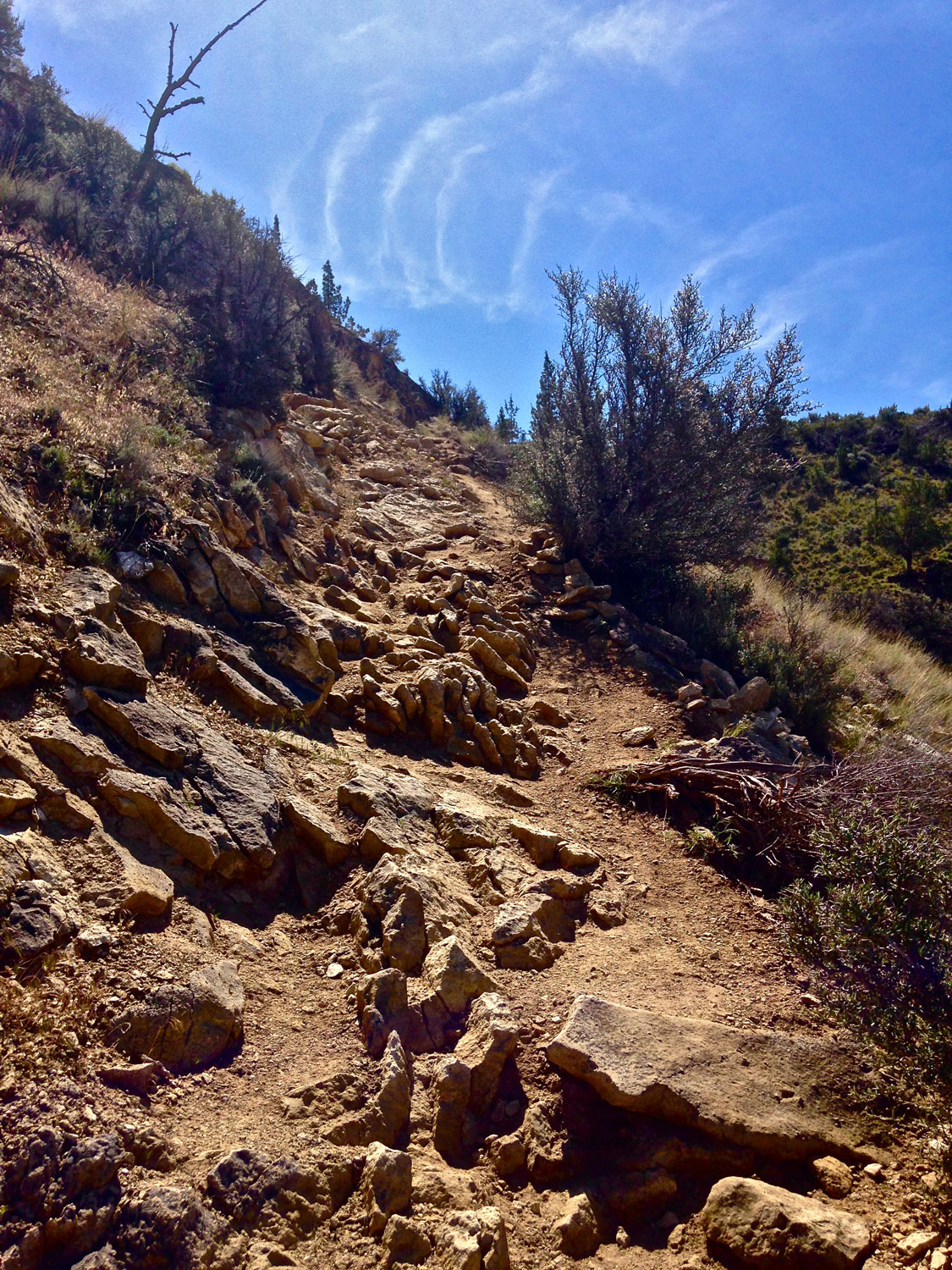 The Burma Road Trail in Smith Rock State Park can present some interesting obstacles for mountain bikers.
