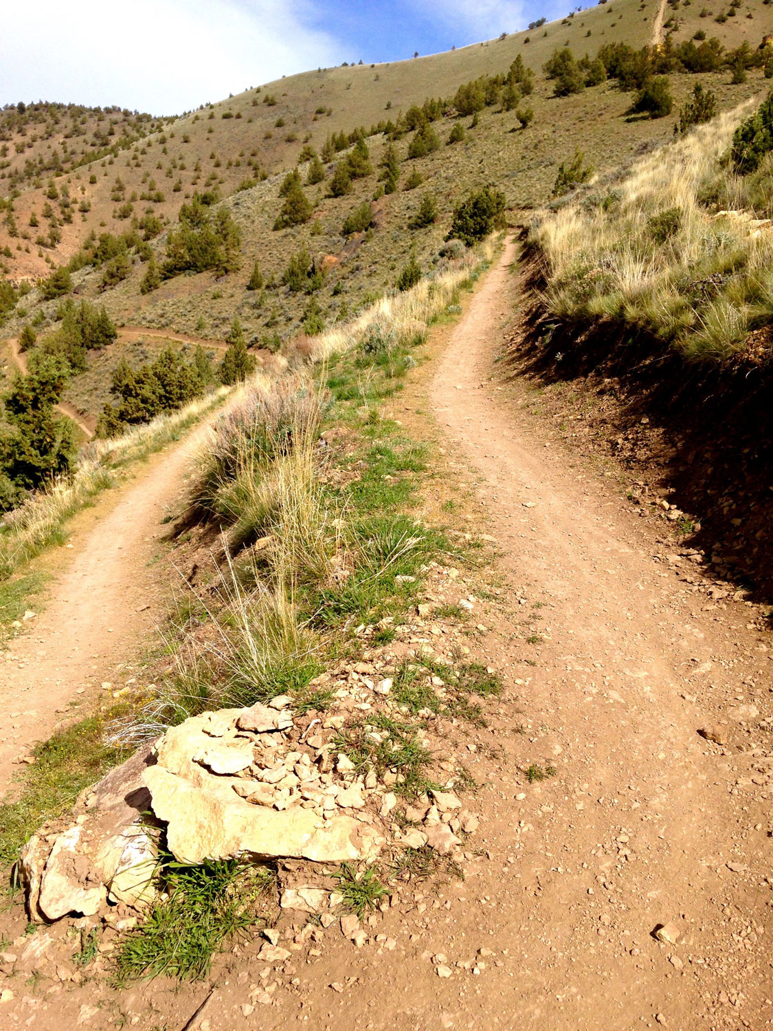 Some of the switchbacks on the Summit Trail at Smith Rock State Park can be challenging in a downhill direction for mountain bikers.