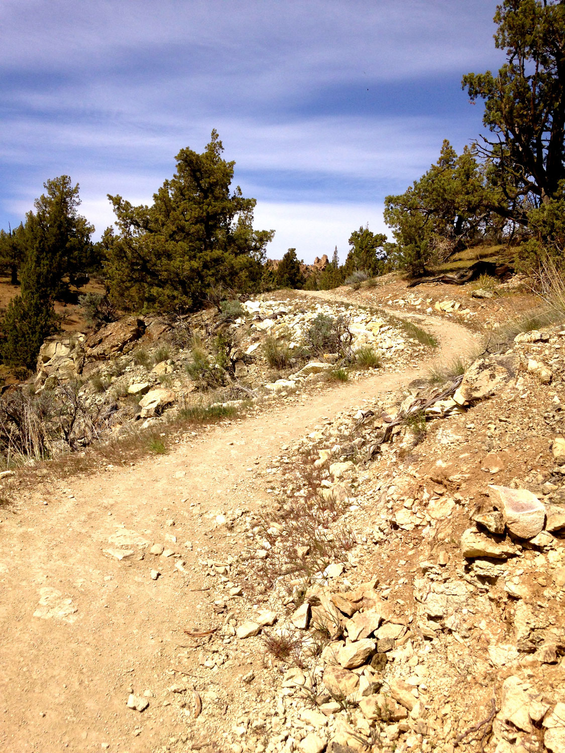 The Summit Trail continues to gain elevation at Smith Rock State Park.