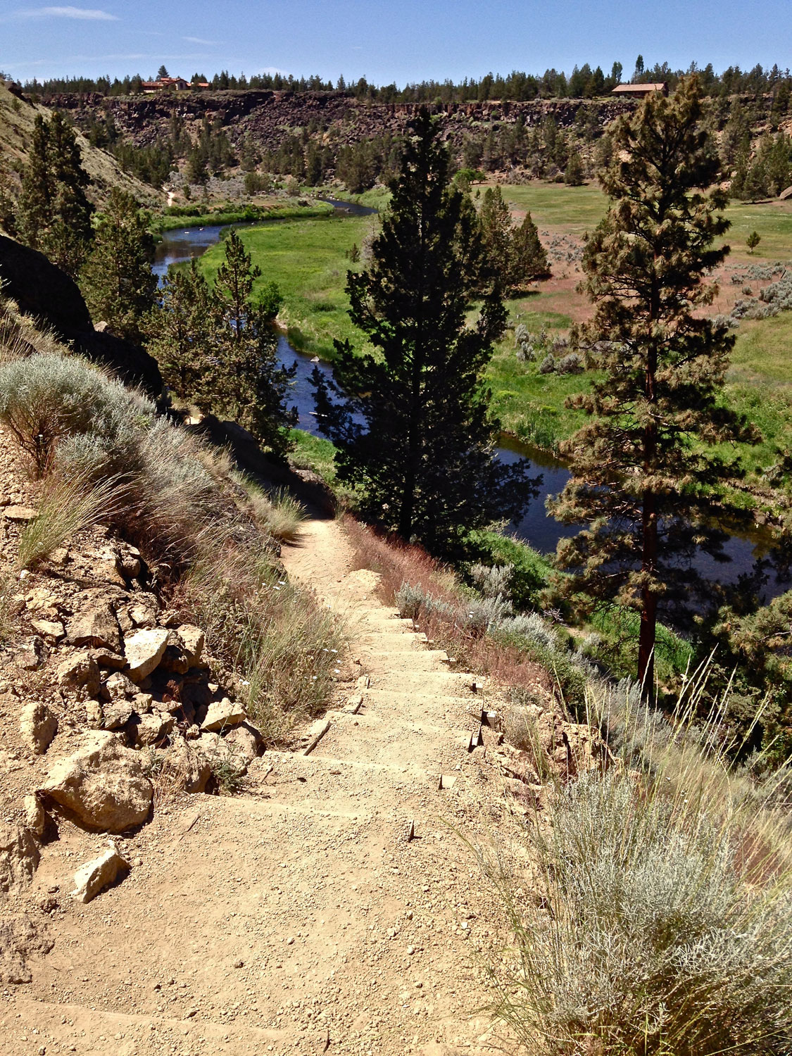 A set of stairs on the Mesa Verde Trail at Smith Rock State Park has been added to prevent more erosion.