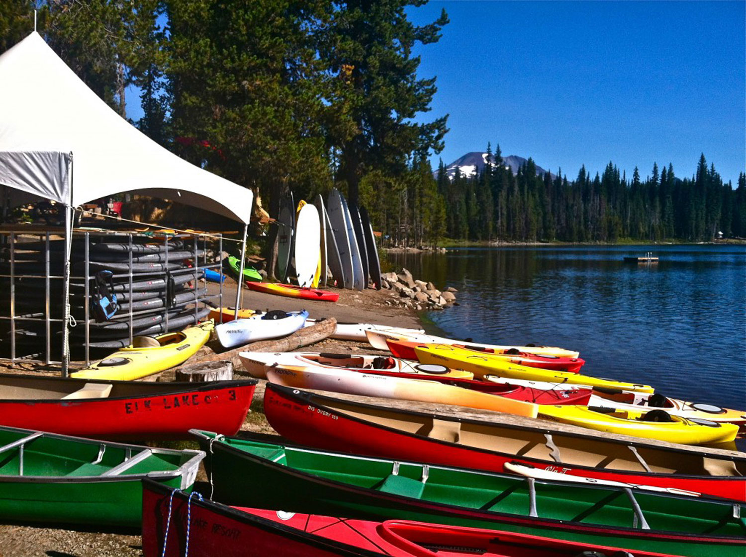 Rental water gear at Elk Lake