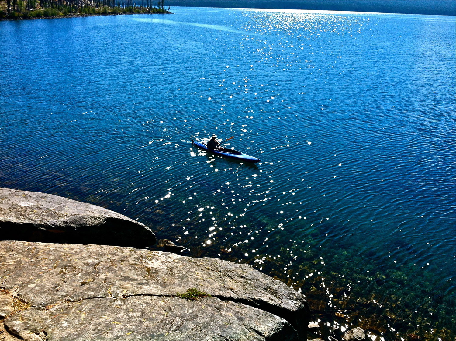 Kayaking on Waldo Lake