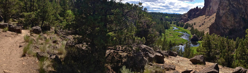 Canyon to rim LOOP (3.4 miles) - See climbers on Rope-de-Dope, wildlife along the Crooked River, the densest vegetation and