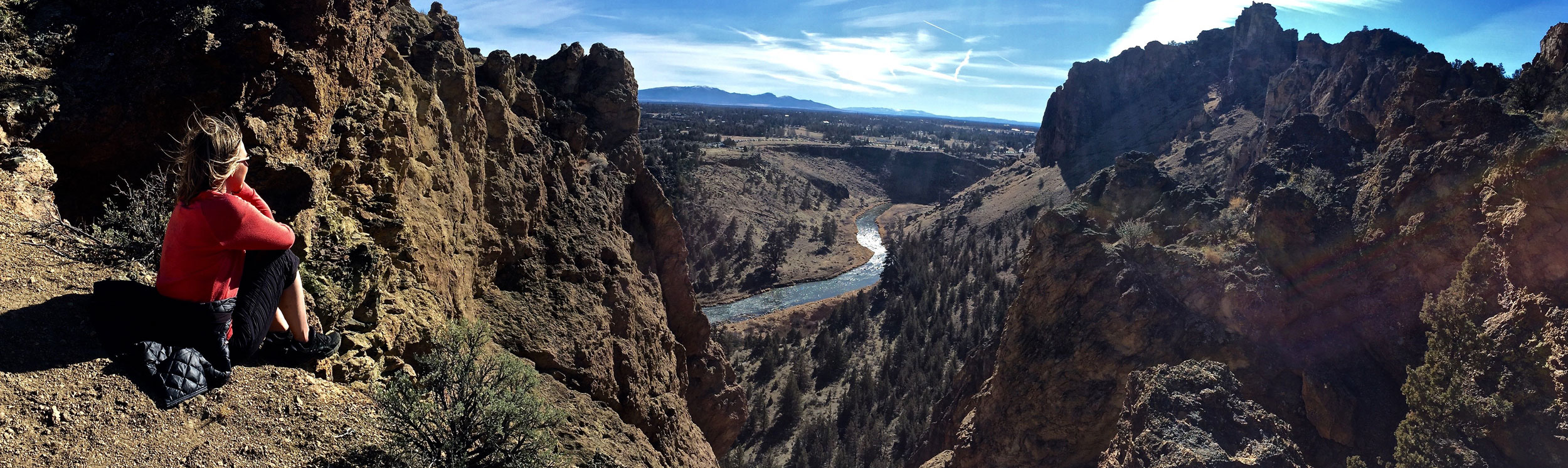 SUMMIT loop (7.3 miles) - See the whole park starting with the Crooked River, Monkey Face, and then up a series of switchbacks to amazing views from the back side of the Monument area and then down a road and back along the river to the bridge again.
