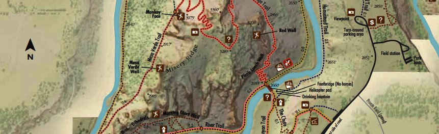 smith rock - map