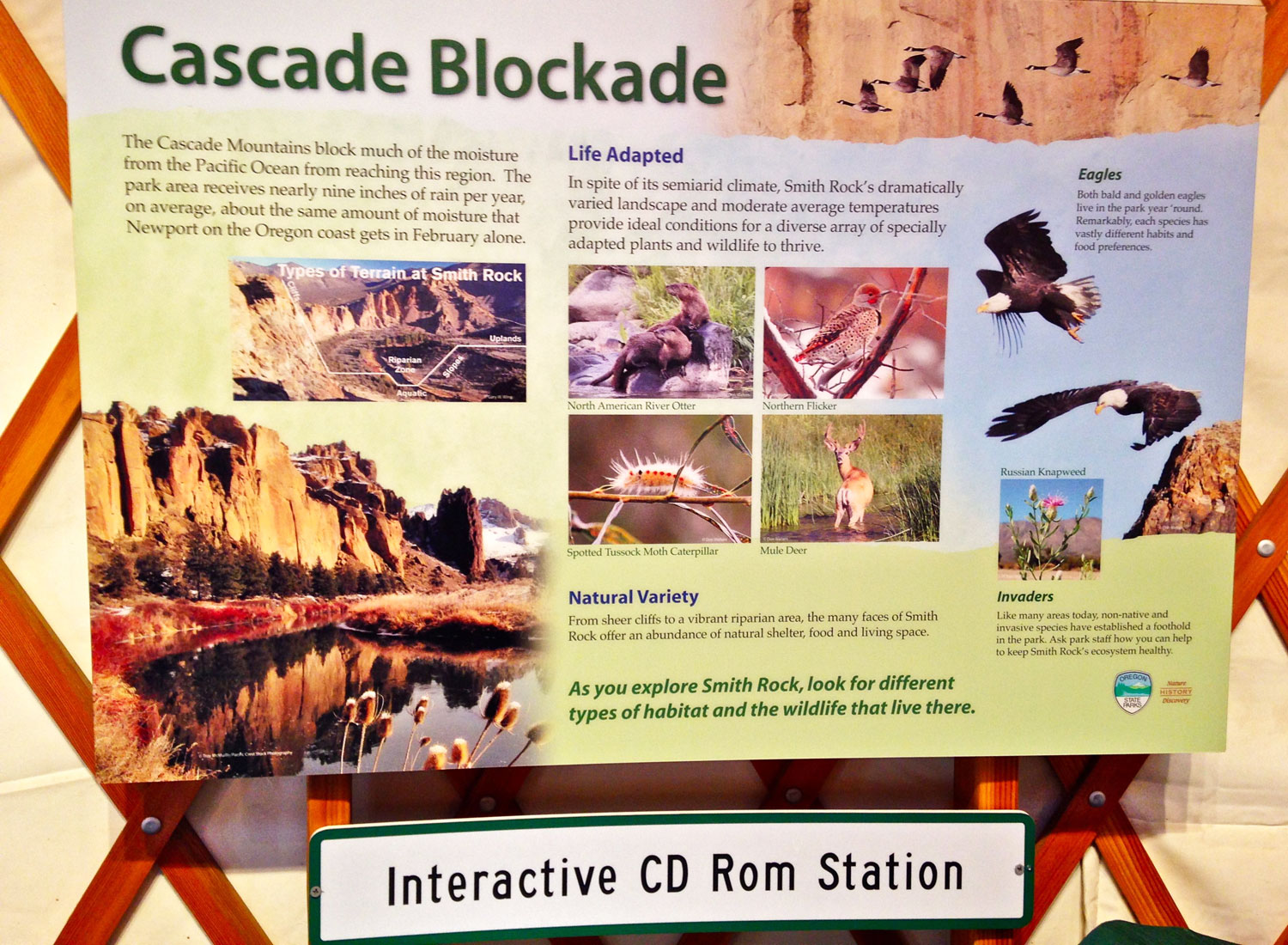 Smith Rock State Park Welcome Center Interactive CD ROM Station