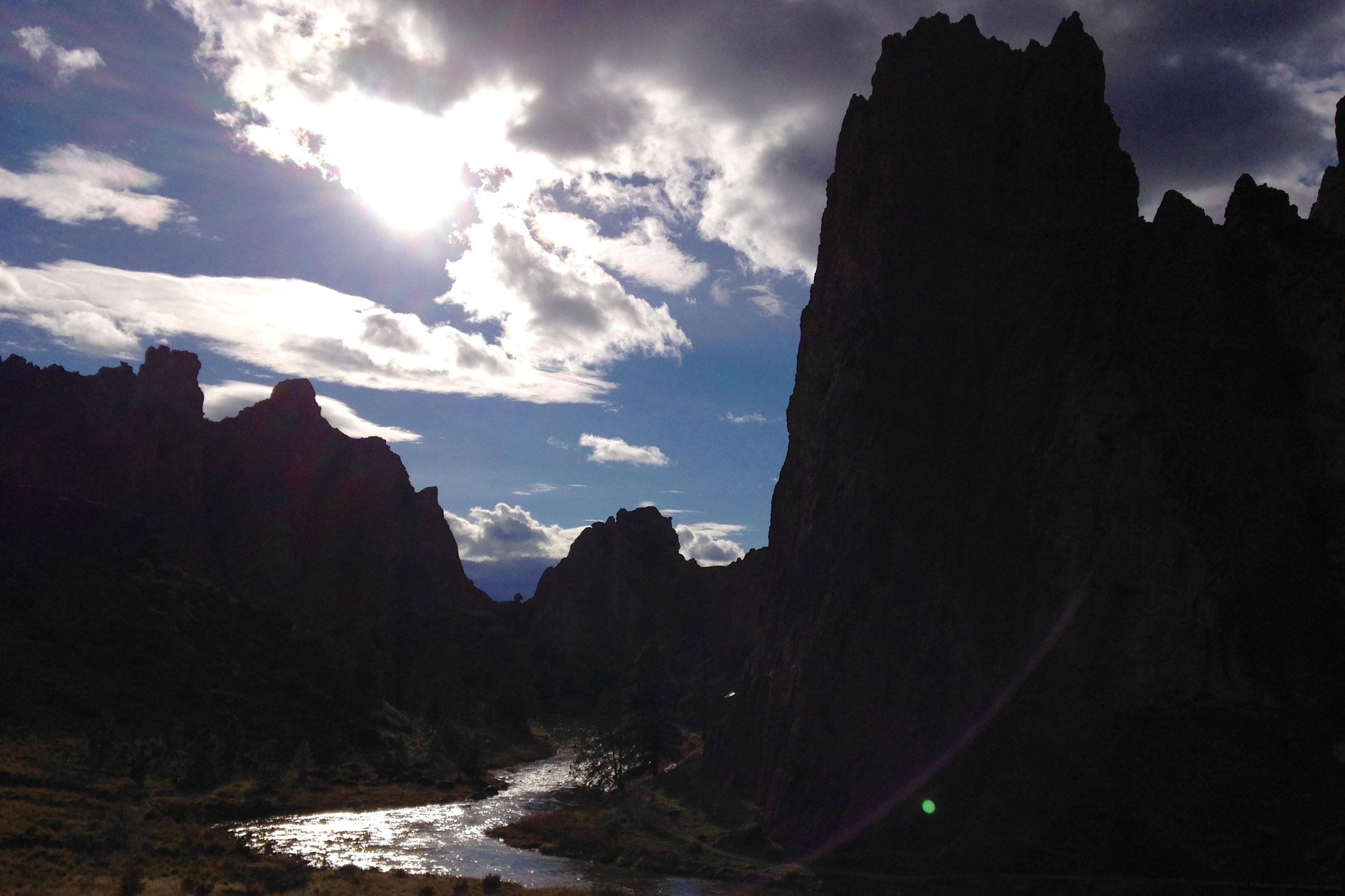 last light on the river