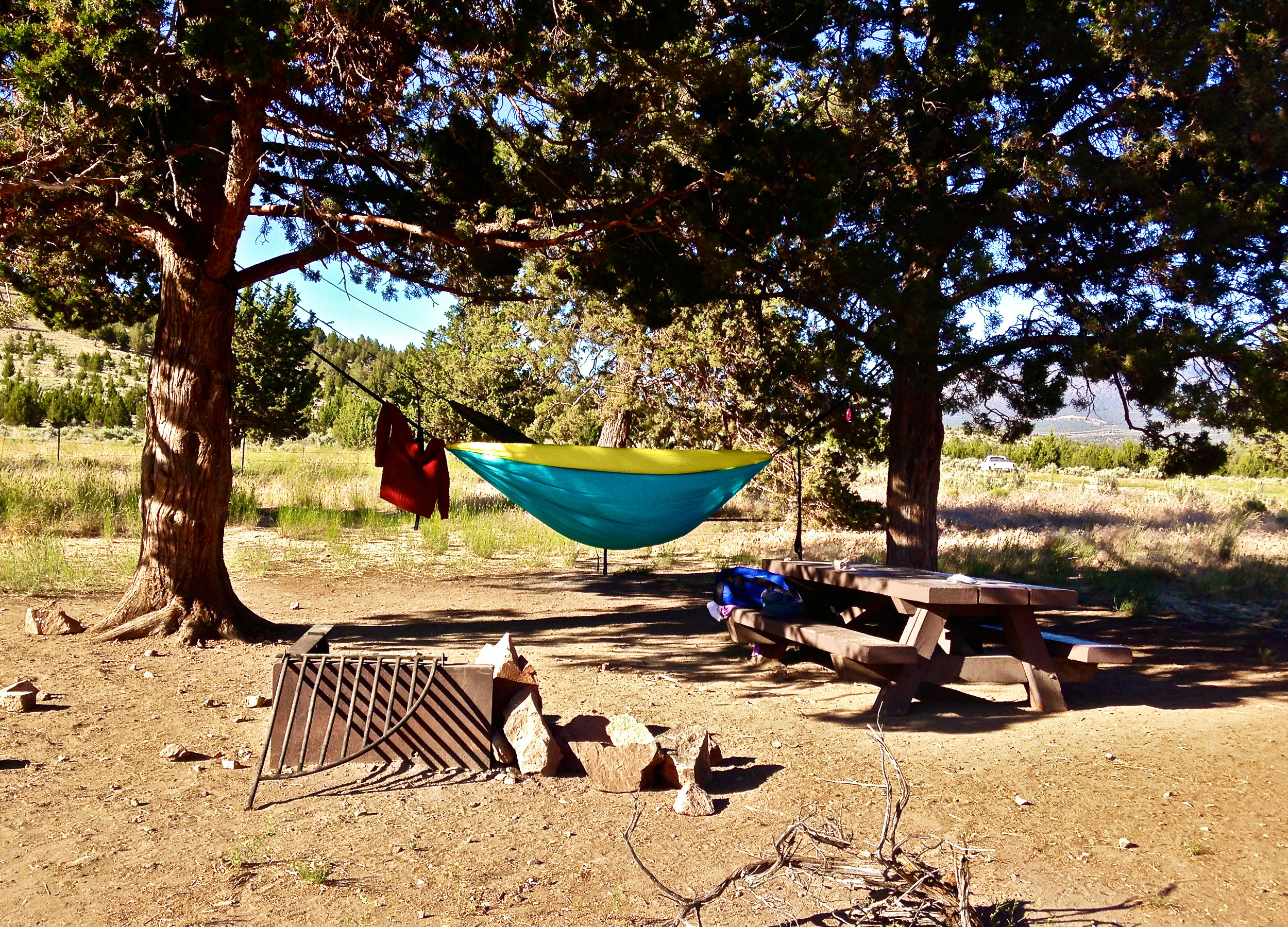 some sites have trees that make good hammock spots at Skull Hollow Campground