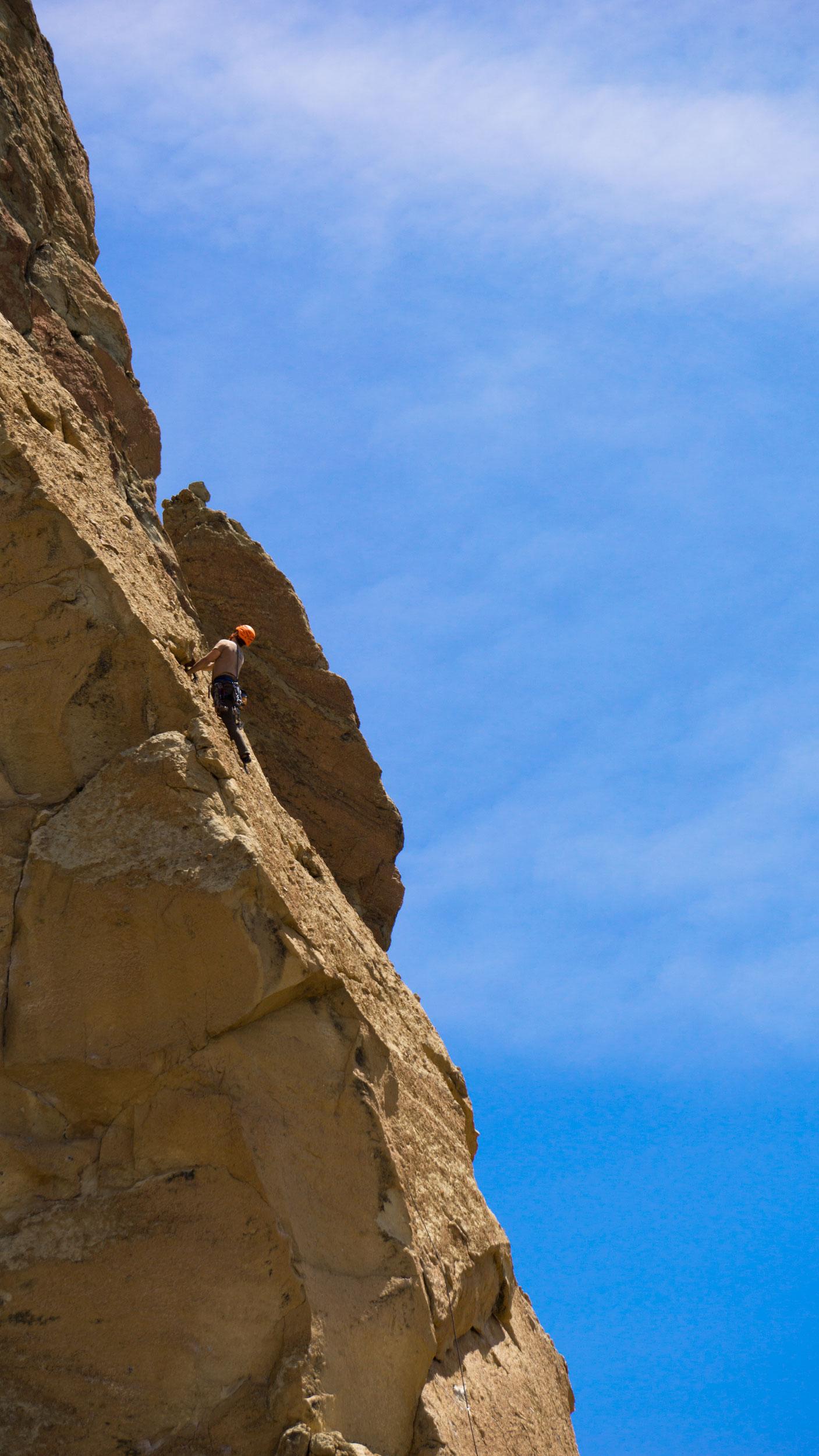 climbers on Koala Rock by Smith Rock State Park