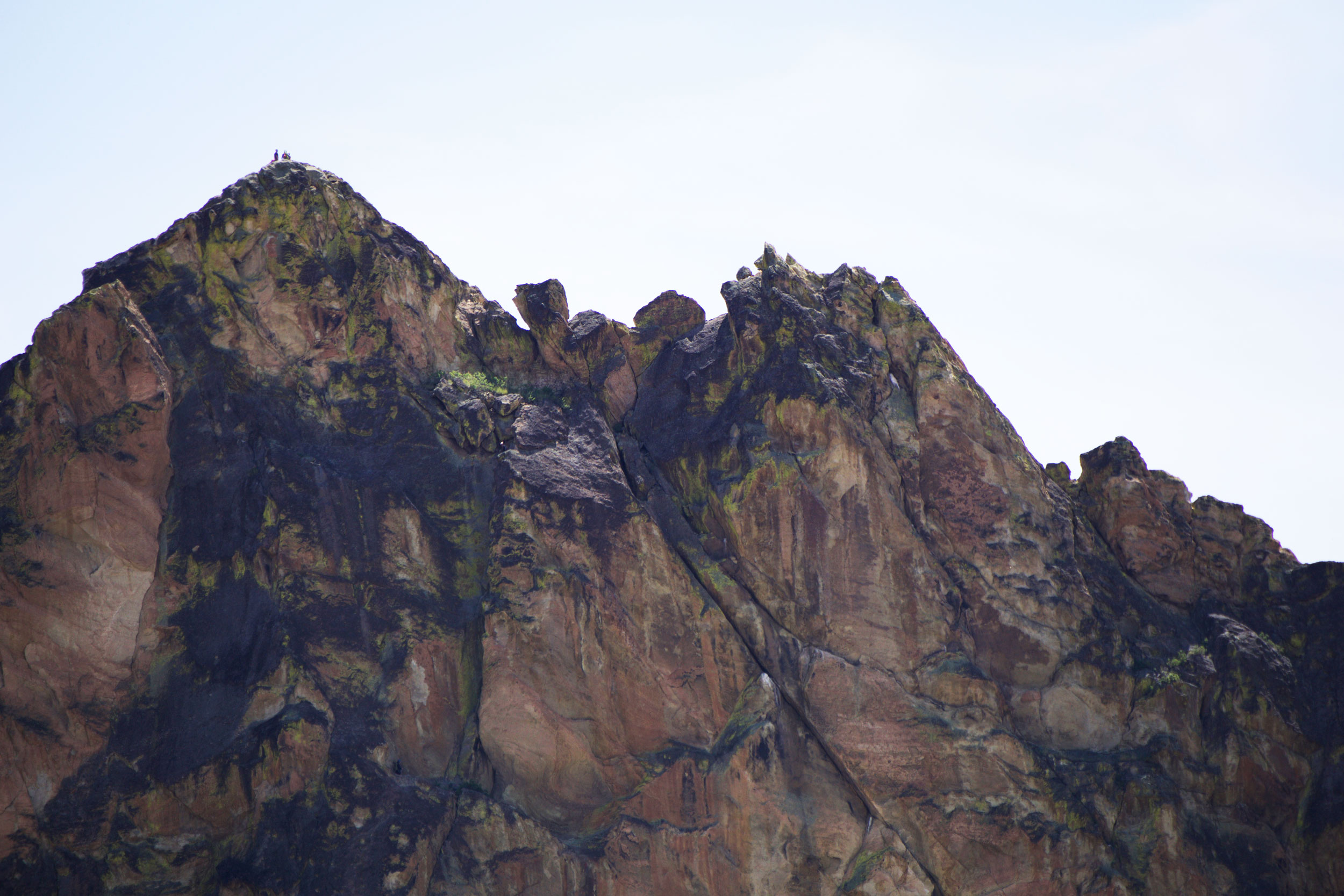climbers on top of The Wombat in the Marsupials near Smith Rock State Park