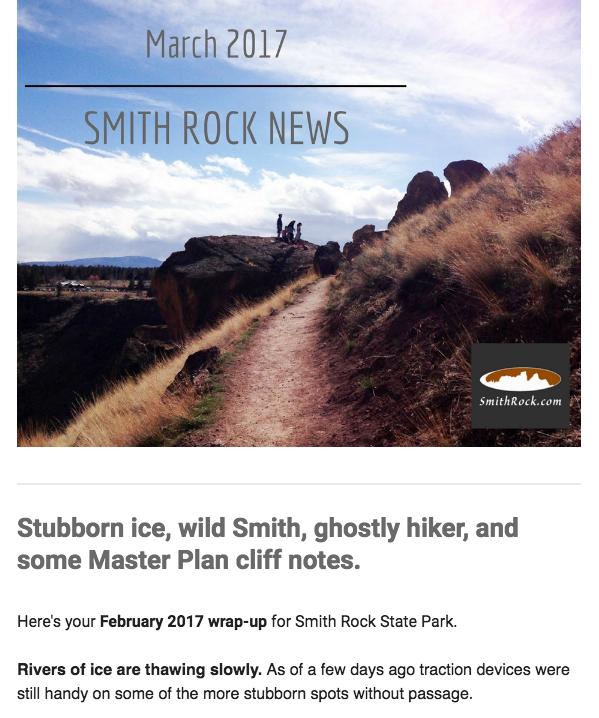 Sample Smith Rock News screenshot